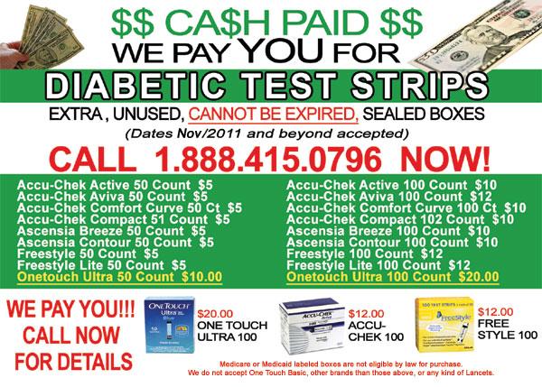 1 888 415 0796 We Buy Diabetic Test Strips