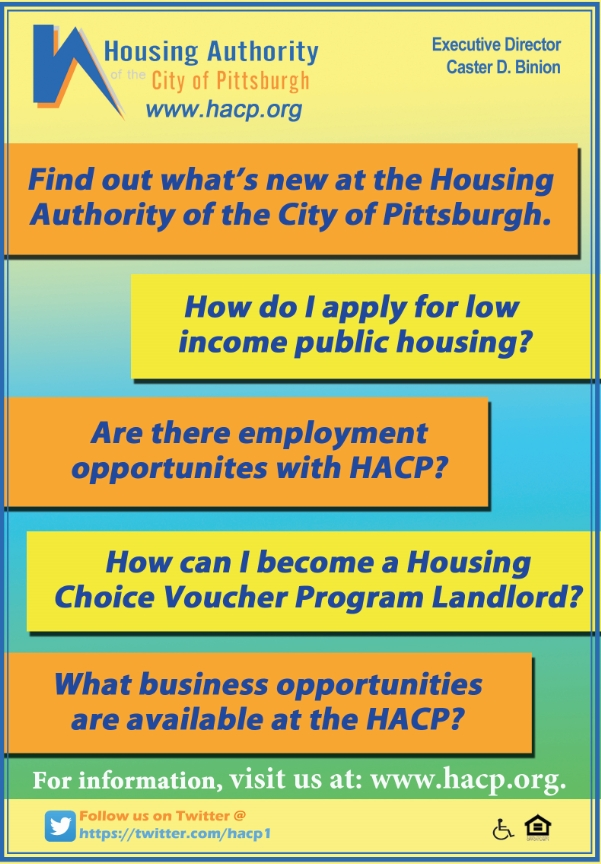 Find out what's new at the Housing Authority of the City of Pittsburgh