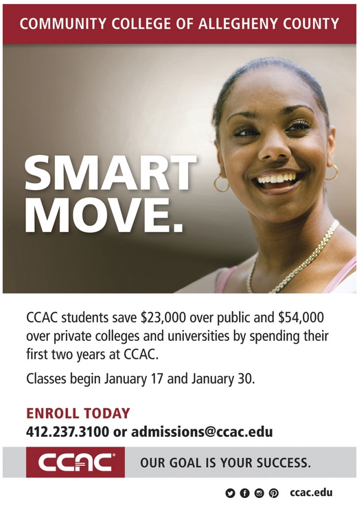 CCAC | Classes begin Jan 17 & Jan 30