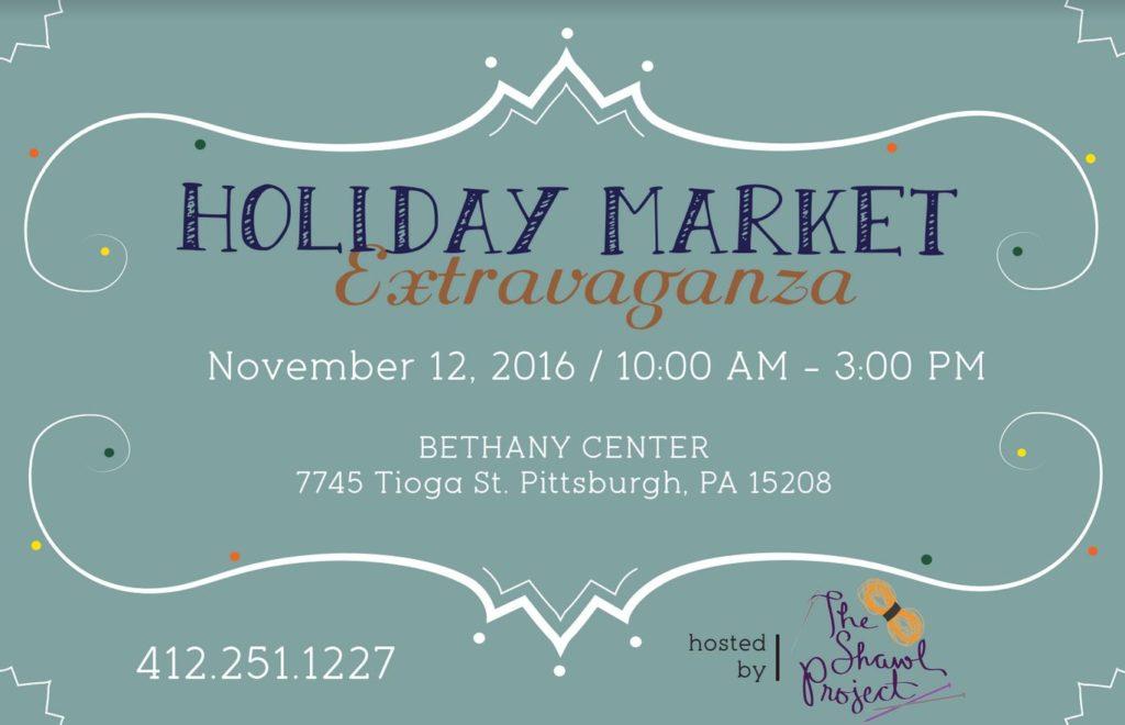 Holiday Market Extravaganza on Nov 12th, 10AM-3PM at Bethany Center