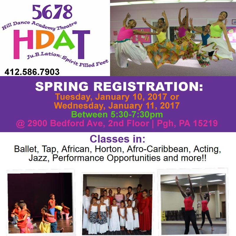 Hill Dance Academy Theatre Spring Season Starts Jan 14th