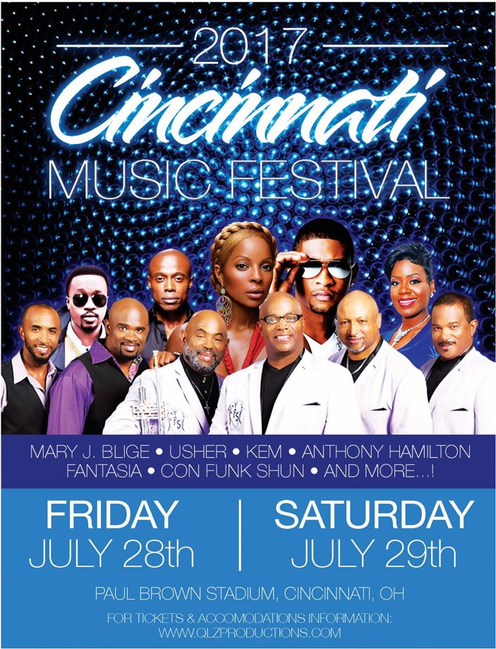 2017 Cincinnati Music Festival | July 28 - 29 at Paul Brown Stadium, Cincinnati OH
