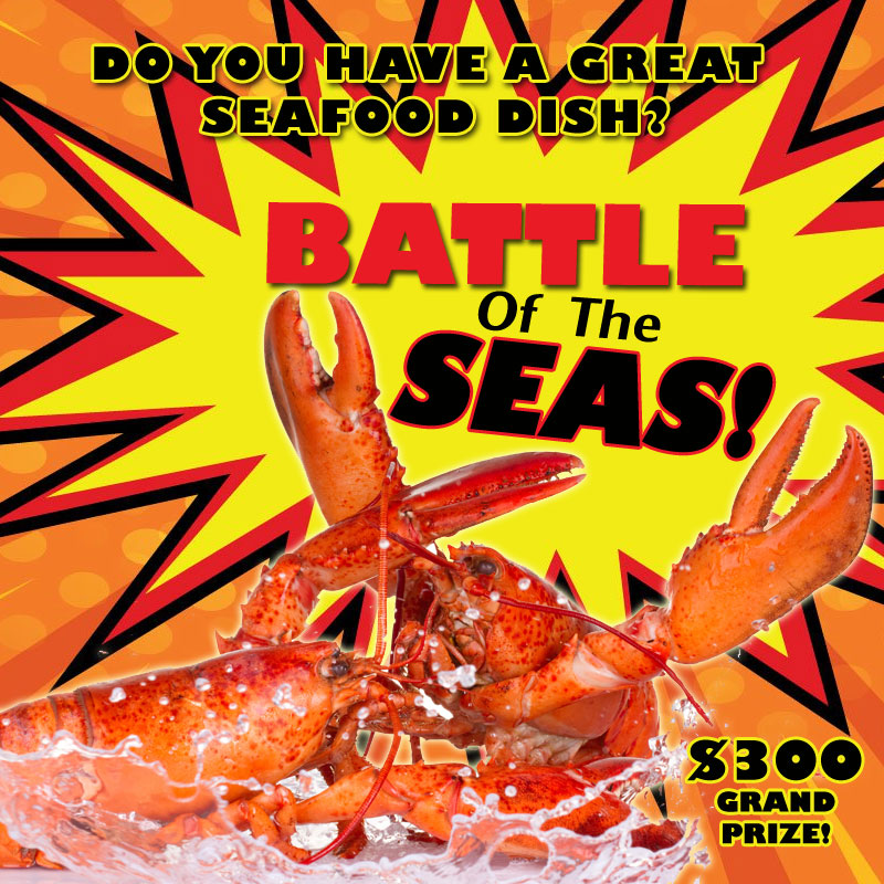 Battle of the Seas! Seafood Showdown | Enter by March 1st!