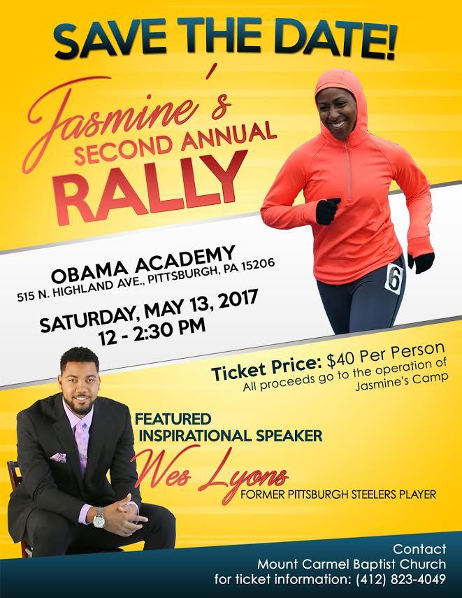 Save the Date | Jasmine's 2nd Annual Rally on May 13 at Obama Academy