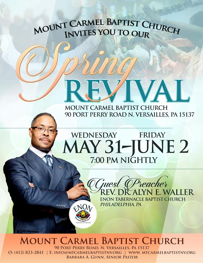 Mount Carmel Baptist Church Spring Revival | May 31-June 2