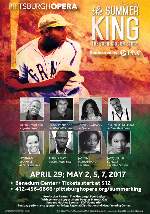 Pittsburgh Opera Presents THE SUMMER KING: The Josh Gibson Story | Opens April 29th