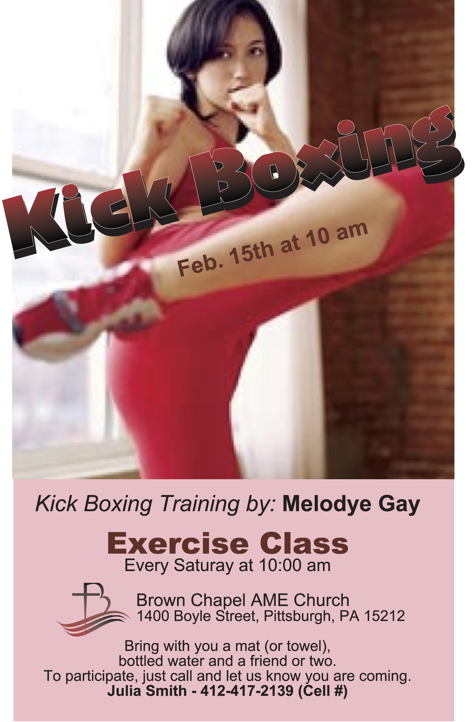 Kick boxing flyer - Feb 15th